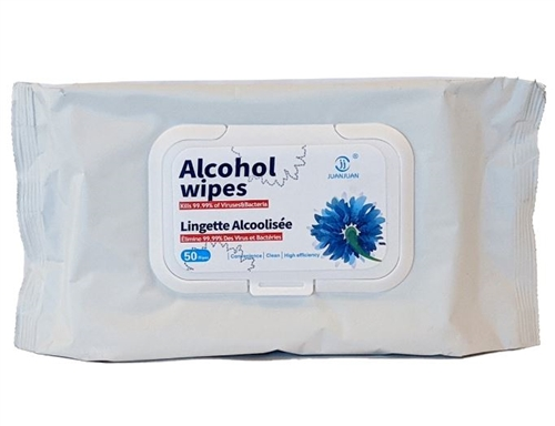 Alcohol Wipes - 50 CT