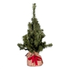 2 ft.Artificial Christmas Tree. Brown burlap base