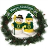"20"" CLC Double Snowman Wreath - Oregon Ducks"
