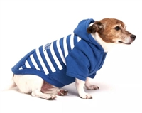 Royal Animals Stripe New York Dog and Cat Hoodie - Blue - XS