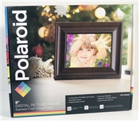 "Polaroid 8"" Digital Picture Frame - Espresso Finish Wood"