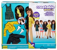 Creatable World Deluxe Character Kit - Chestnut Brown Wavy Hair