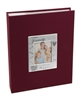 BorderTrends Deluxe Family Self-Adhesive Fabric Photo Album, Burgundy
