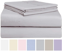 Swan Linens Cotton Rich 4-Piece Bed Sheet Set, King