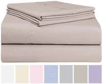 Swan Linens-4 pc Cotton Blend Sheet Set, Queen