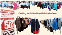 Clothing for all ages and sizes