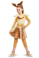 Disguise Pokemon Eevee Deluxe Girls Costume, Brown