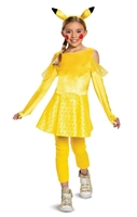 Disguise Pokemon Pikachu Deluxe Girls Costume, Yellow