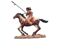 Native Brave on Horse w/spear