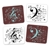 Treble/Bass Clef Mouse Pad