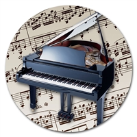 Round Music Instrument Mouse Pad