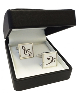 Treble Clef & Bass Clef Cufflinks
