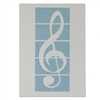 Greeting Card- Treble Clef on Blue Bkgrd