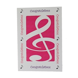 Greeting Card - Congratulations - Pink