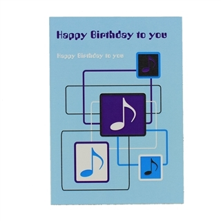 Greeting Card - Happy Birthday Blue