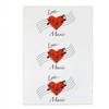 Greeting Card - Love Music