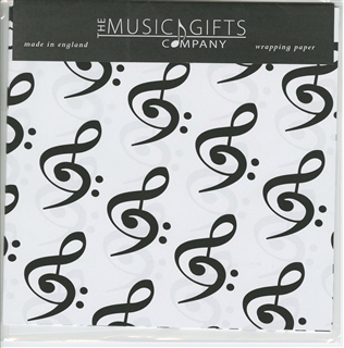 Bass & Treble Clefs Gift Wrap