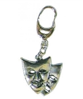 Theatrical Masks Pewter Keychain