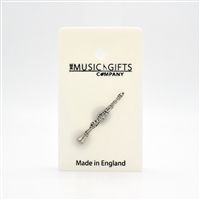 Clarinet Pewter Pin