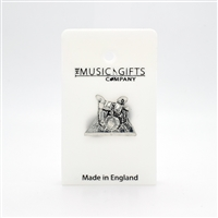 Drum Set Pewter Pin