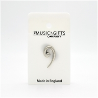 Bass Clef Pewter Pin