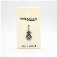 Acoustic Guitar Pewter Pin