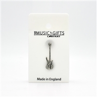 Bass Guitar Pewter Pin
