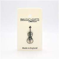 Cello Pewter Pin