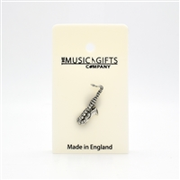Saxophone Pewter Pin