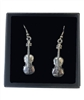 Violin Pewter Earrings