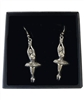 Ballerina Pewter Earrings