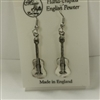Spanish Guitar Pewter Earrings
