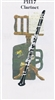 3D Greeting Card-Clarinet
