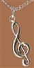Treble Clef Pewter Necklace