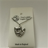 Theatrical Masks Pewter Necklace