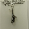Saxophone Pewter Necklace