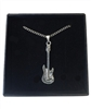 Electric Guitar Pewter Necklace