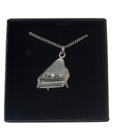 Piano Pewter Necklace