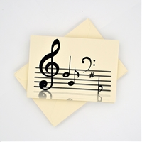 Notes and Clefs Boxed Notecards and Envelopes