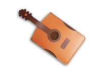 Guitar Leather and Suede Credit Card Holder