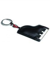 Piano Leather Keychain