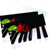 Piano and Rose Boxed Notecards