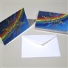 Rainbow Treble Clef Boxed Notecards