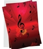Music Notes with Flowers Boxed Notecards
