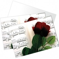 Rose and Sheet Music Boxed Notecards