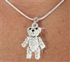Teddy Bear - Crystal Necklace