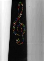 Handmade Tie - Color Of Clef Notes