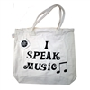 I Speak Music Tote Bag