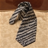 Mozart Black & Cream Silk Neck Tie