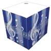 Blue Striped Music Note Telephone Cube